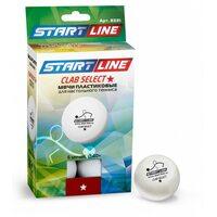 Мячи для настольного тенниса Start line Club Select 1* New (6 шт, бел.)