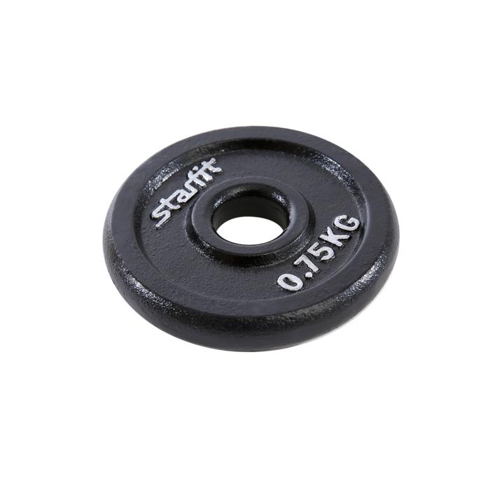 Диск чугунный BB-204 0,75 кг, d=26 мм, черный