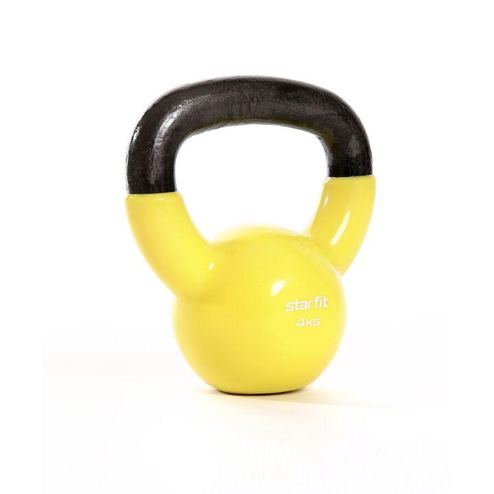 Гиря виниловая Core DB-401 желтый, 4 кг