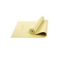 Коврик для йоги и фитнеса Core FM-101 173x61, PVC, желтый пастель, 0,6 см