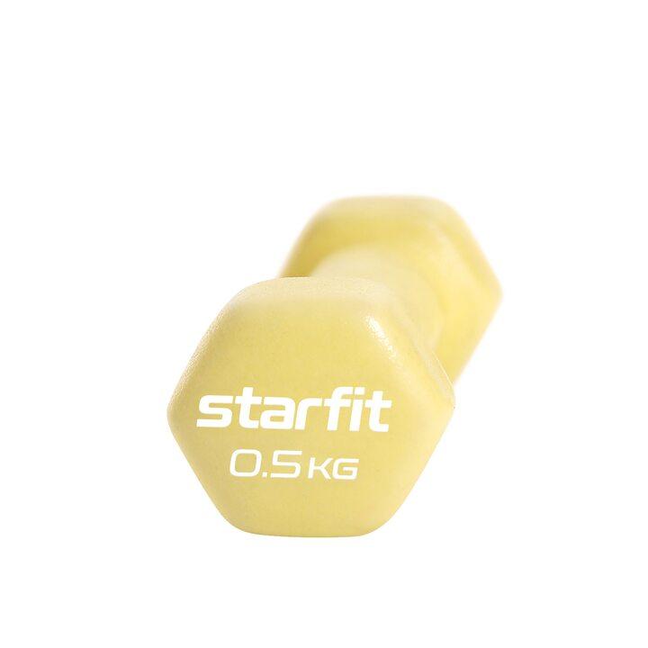 Гантель неопреновая Core DB-201 желтый пастельный, 0,5 кг