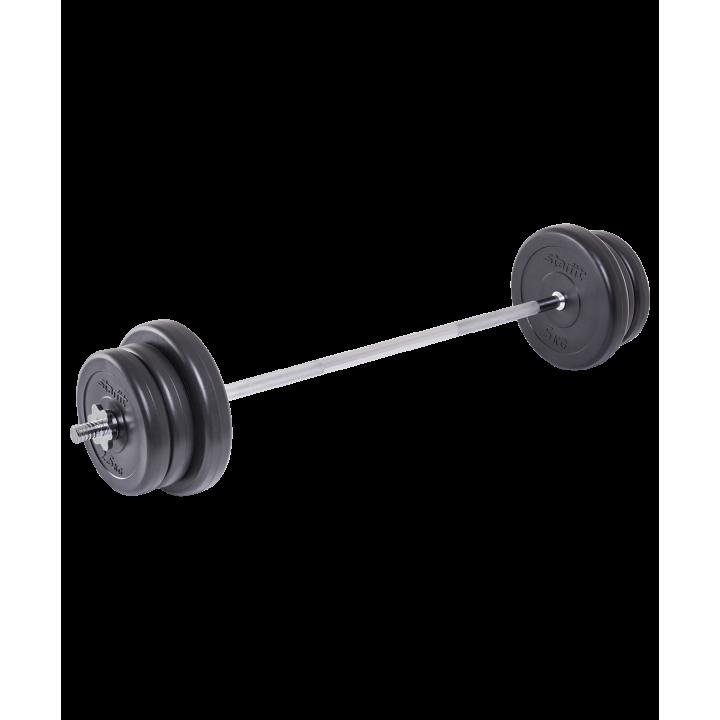 Штанга разборная BB-401, стальной гриф, пластиковые диски, 25 кг