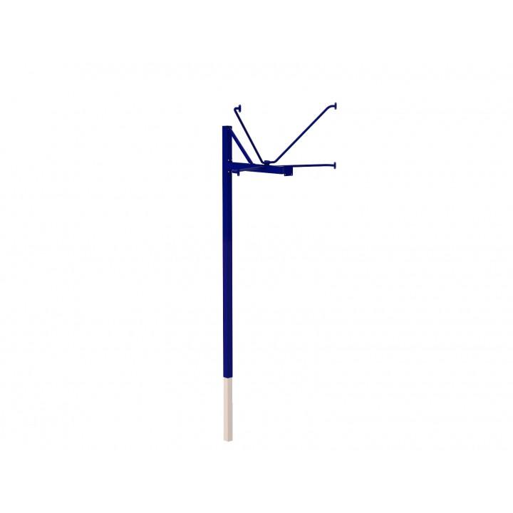 Стойка баскетбольная JAGUAR-SPORT уличная одноопорная для тренировочного щита (900х1200 мм), вынос 1200 мм