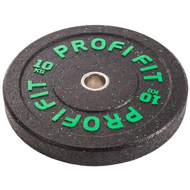 Бамперный диск для штанги HI-TEMP с цветными вкраплениями, JAGUAR-SPORT D-51, 10 кг