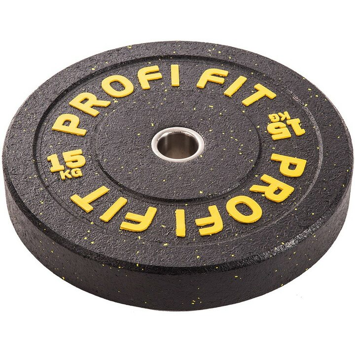 Бамперный диск для штанги HI-TEMP с цветными вкраплениями, JAGUAR-SPORT D-51, 15 кг