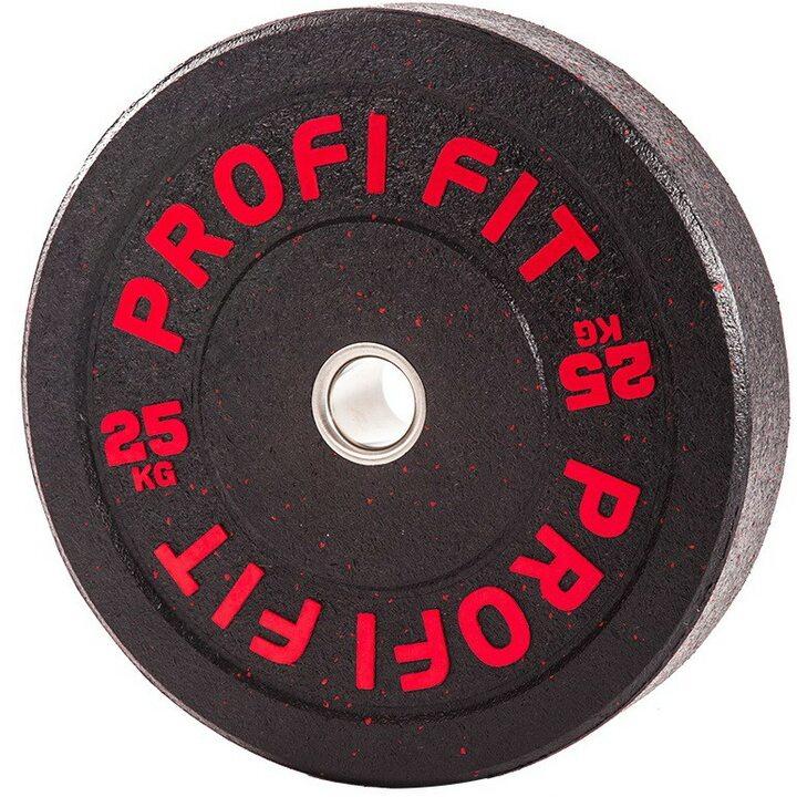 Бамперный диск для штанги HI-TEMP с цветными вкраплениями, JAGUAR-SPORT D-51, 25 кг