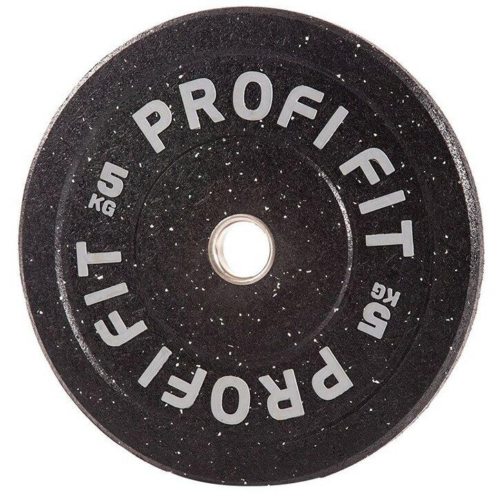 Бамперный диск для штанги HI-TEMP с цветными вкраплениями, JAGUAR-SPORT D-51, 5 кг