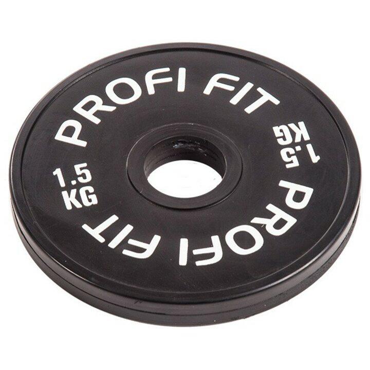 Бамперный диск для штанги каучуковый JAGUAR-SPORT D-51, 1,5 кг