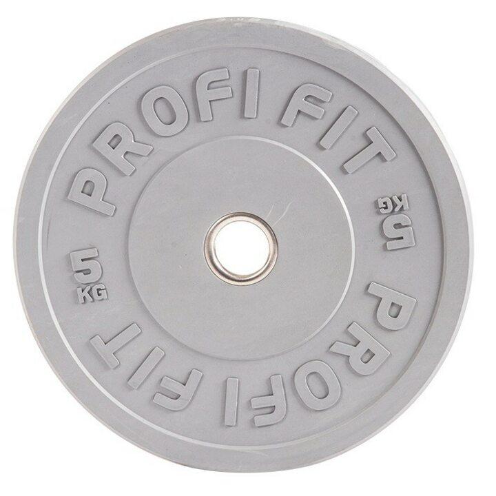 Бамперный диск для штанги каучуковый JAGUAR-SPORT D-51, 5 кг