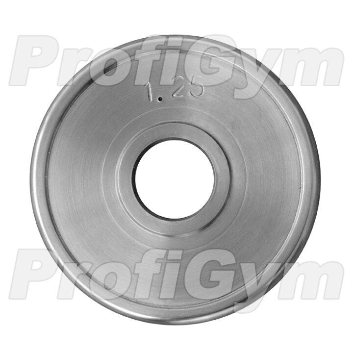 Диск хромированный «ProfiGym» 1.25 кг посадочный диаметр 26 мм
