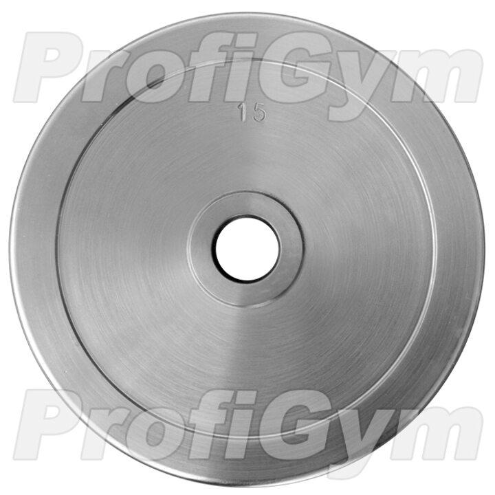 Диск хромированный «ProfiGym» 15 кг посадочный диаметр 51 мм