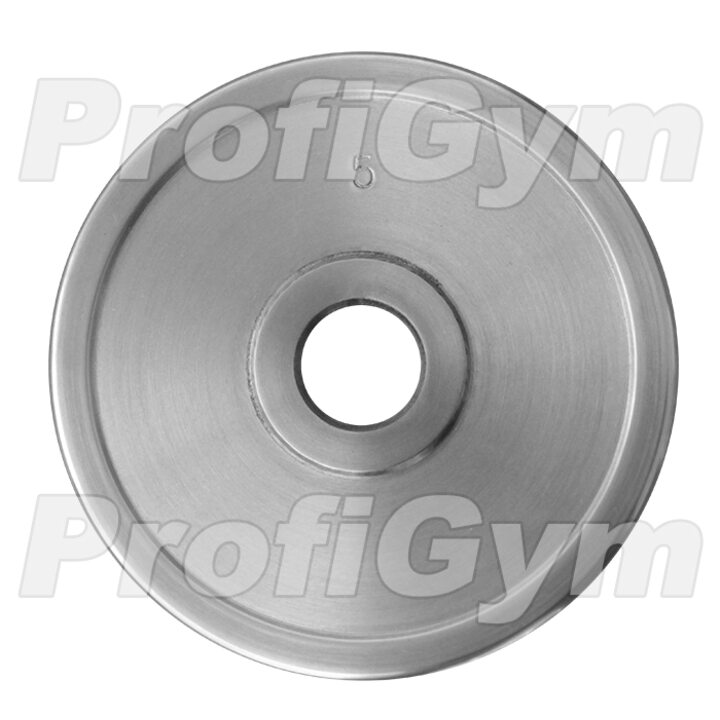 Диск хромированный «ProfiGym» 5 кг посадочный диаметр 26 мм