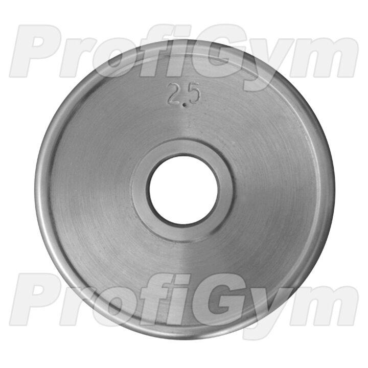 Диск хромированный «ProfiGym» 2.5 кг посадочный диаметр 51 мм