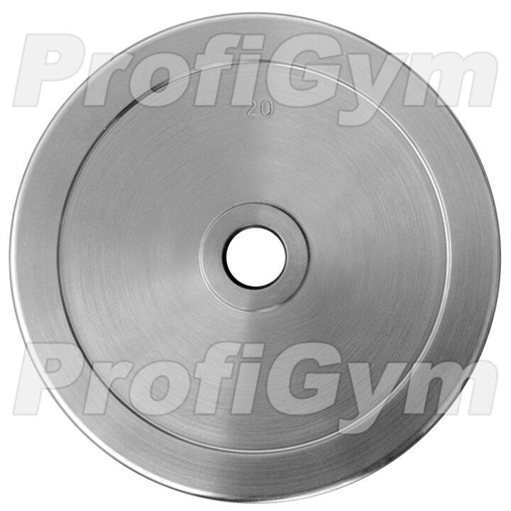 Диск хромированный «ProfiGym» 20 кг посадочный диаметр 26 мм