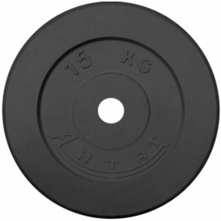 Диск тренировочный обрезиненный  Россия 15 кг, посадочный диаметр 26
