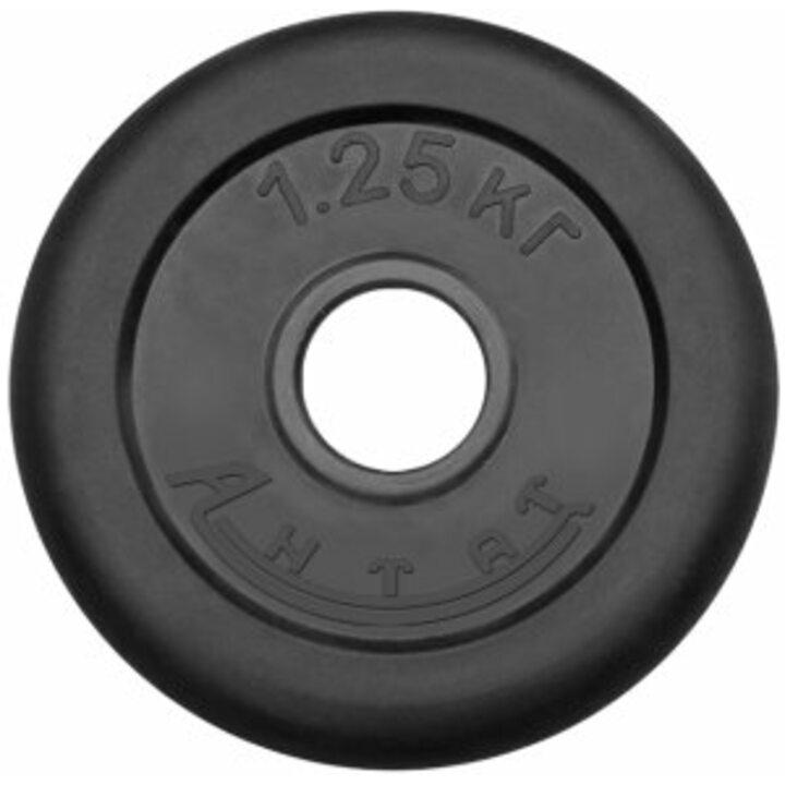 Диск тренировочный обрезиненный Россия 1.25 кг, посадочный диаметр 26, 31, 51 мм