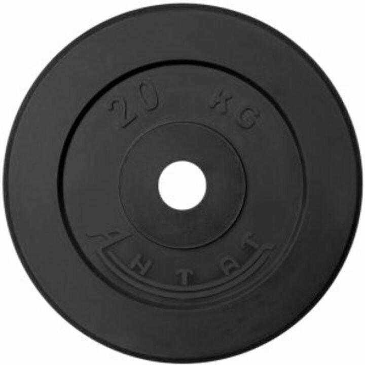 Диск тренировочный обрезиненный  Россия 20 кг, посадочный диаметр 26, 31, 51 мм