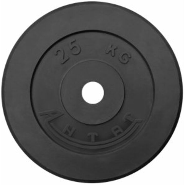 Диск тренировочный обрезиненный  Россия 25 кг, посадочный диаметр 26, 31, 51 мм