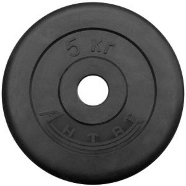 Диск тренировочный обрезиненный  Россия 5 кг, посадочный диаметр 26 мм