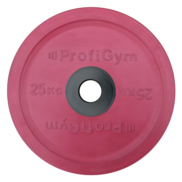 Диск для штанги олимпийский Profigym 25 кг, красный