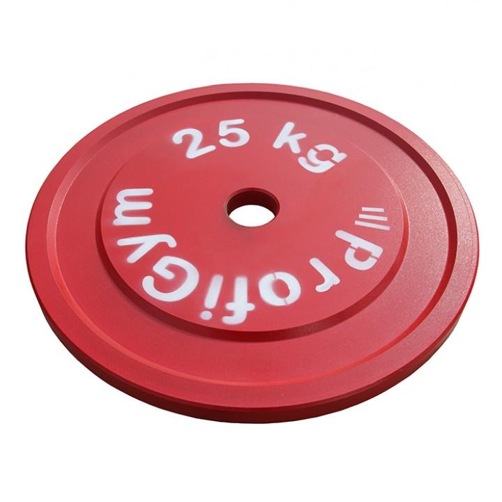 Диск стальной «Powerlifting» с полимерным покрытием Profigym 25 кг
