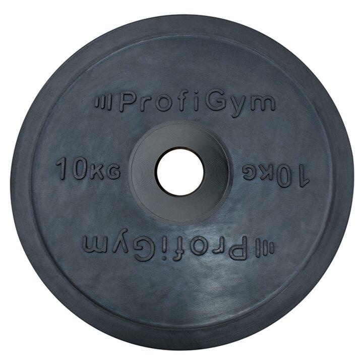 Диск для штанги олимпийский Profigym 10 кг, черный