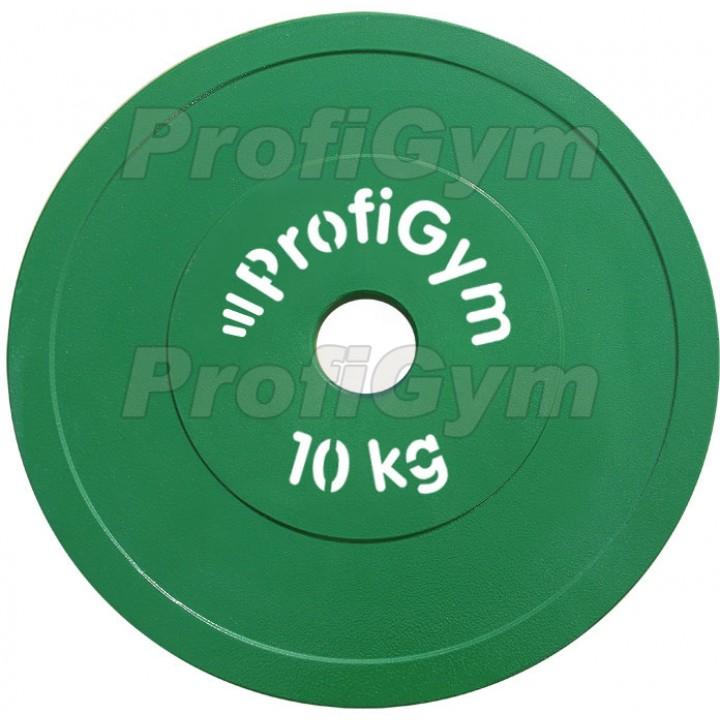 Диск стальной «Powerlifting» с полимерным покрытием Profigym 10 кг