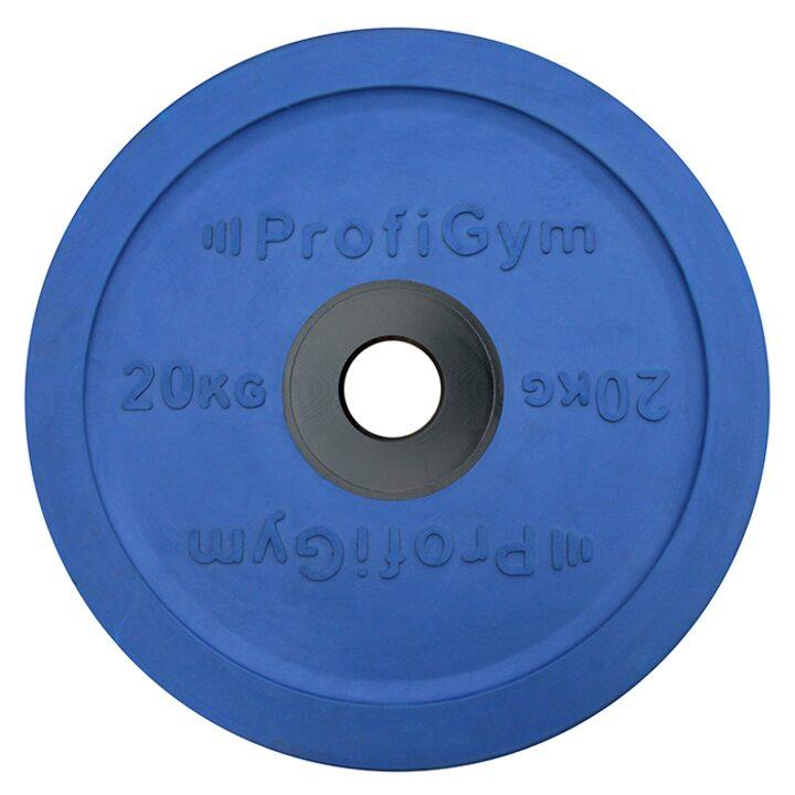 Диск для штанги олимпийский Profigym 20 кг, синий