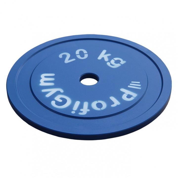 Диск стальной «Powerlifting» с полимерным покрытием Profigym 20 кг