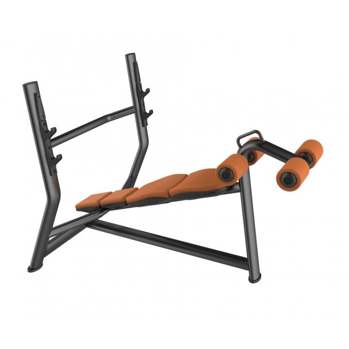 Скамья для жима олимпийская с обратным наклоном JAGUAR-SPORT LD-7030A