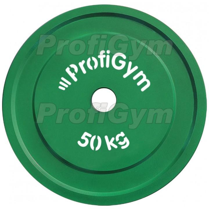Диск стальной «Powerlifting» с полимерным покрытием Profigym 50 кг