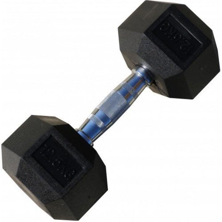 Гантель гексагональная обрезиненная JAGUAR-SPORT 40 кг