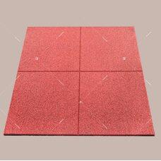 Резиновая плитка EcoStep Gym 990x990 мм с рельефным основанием, плотность 1000 кг/м3