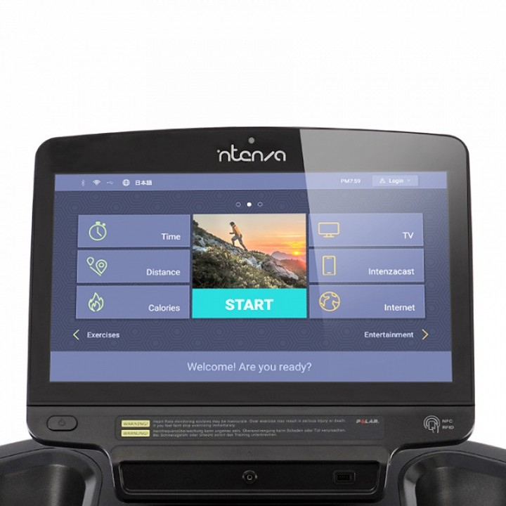 Беговая дорожка Intenza 550Te2 с цветным Touch Screen дисплеем 19