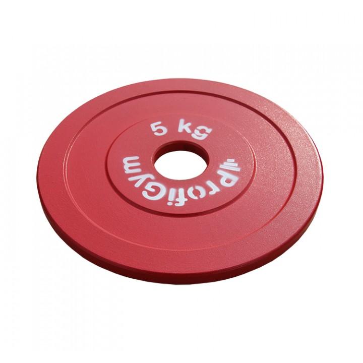Диск стальной «Powerlifting» с полимерным покрытием Profigym 5 кг