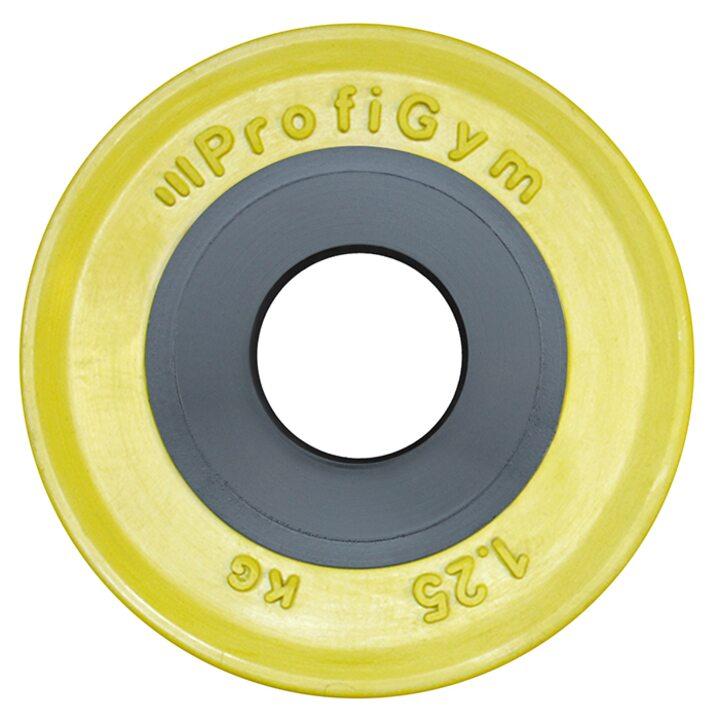 Диск для штанги олимпийский Profigym 1,25 кг, желтый