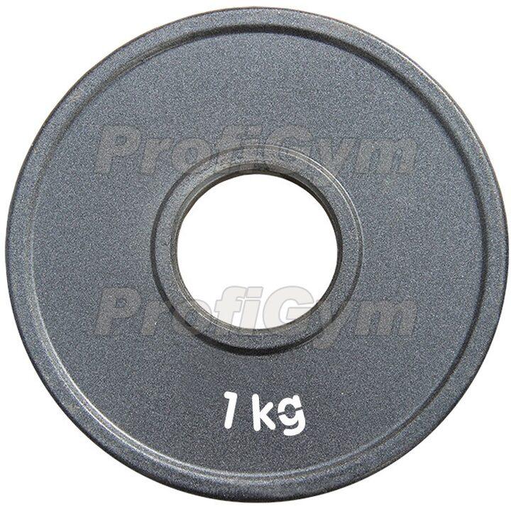 Диск стальной «Powerlifting» с полимерным покрытием Profigym 1 кг