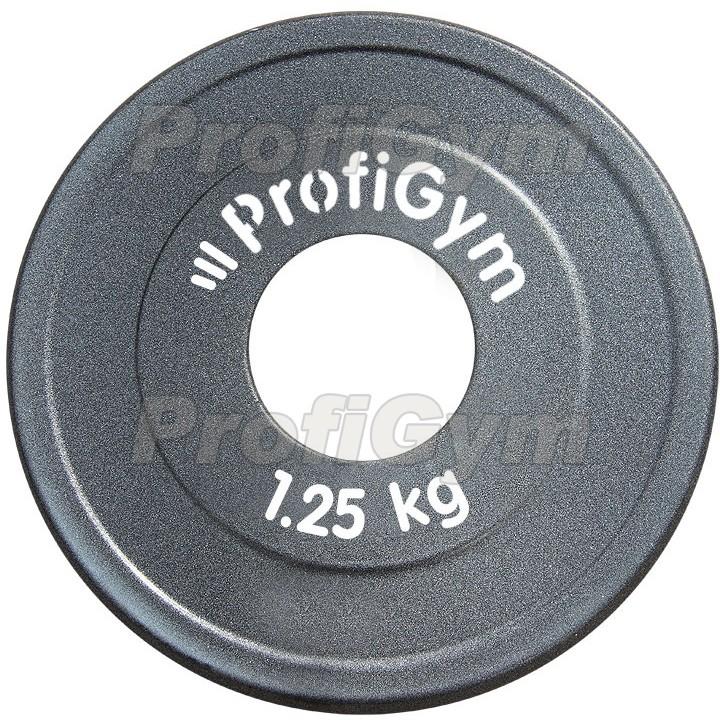 Диск стальной «Powerlifting» с полимерным покрытием Profigym 1,25 кг