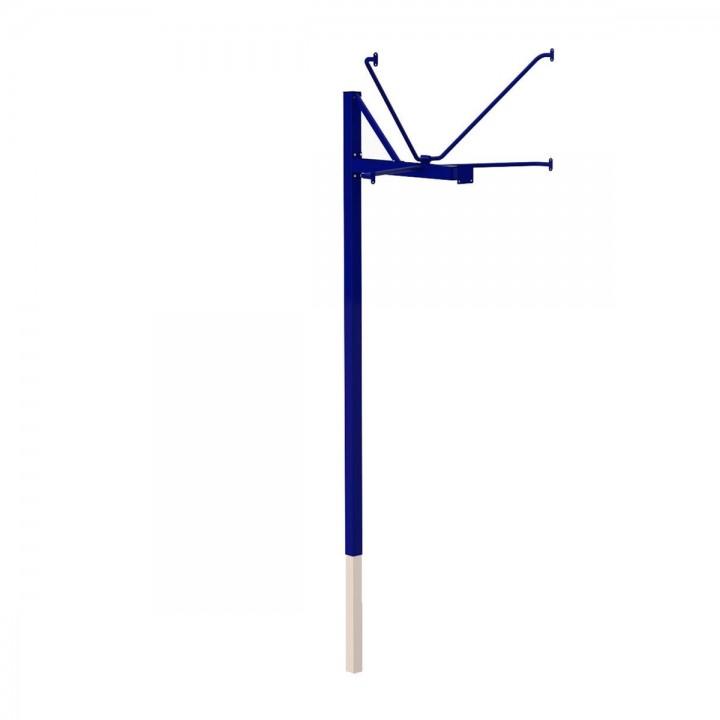 Стойка баскетбольная JAGUAR-SPORT уличная одноопорная для игрового щита (1050х1800 мм), вынос 1200 мм