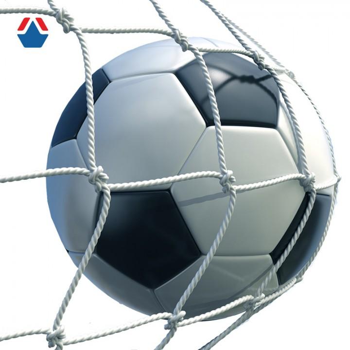 Сетка для футбольных ворот нить 2,2 (100х100) (1360х1500х1040)