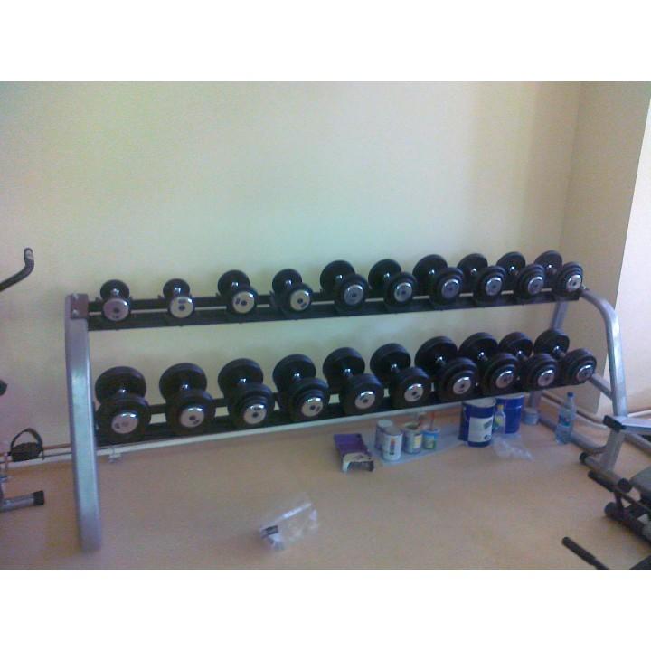 Гантельный ряд JAGUAR-SPORT 2,5 кг - 25 кг (10 пар), шаг 2,5 кг, BASIC