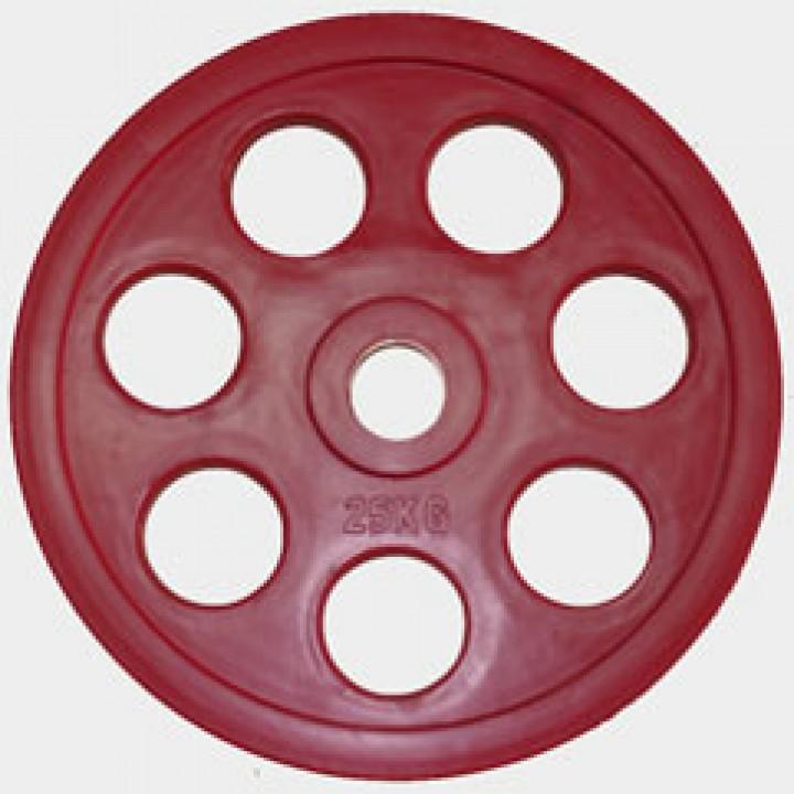 "Олимпийский диск евро-классик с хватом ""Ромашка"" Oxygen 25 кг."