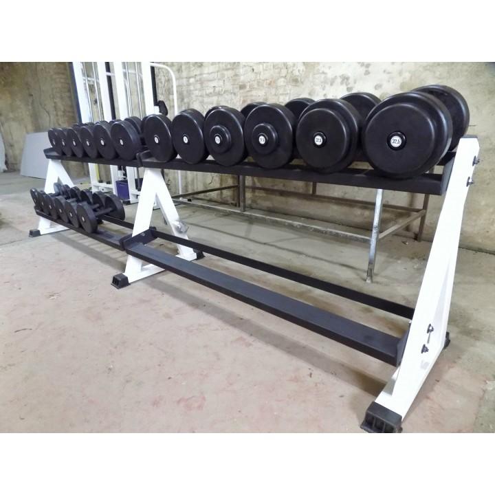Гантельный ряд JAGUAR-SPORT 2,5-25 кг, 10 пар (шаг 2,5 кг)