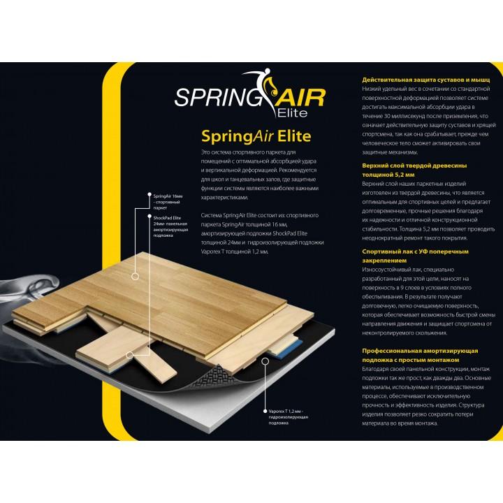 Паркетная система GraboSport SpringAir Elite (ясень)