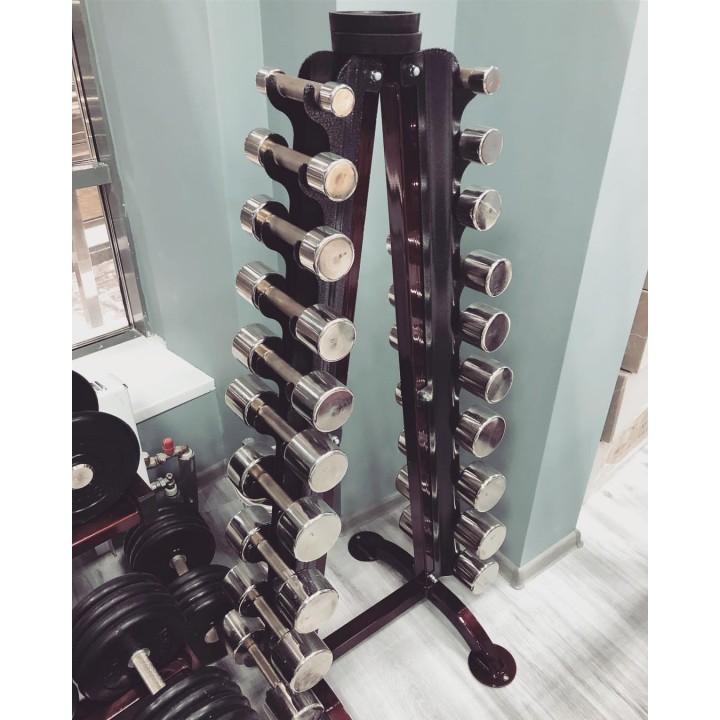 Гантель хромированная Profigym ГНХ 1 кг (шаг 0.5)