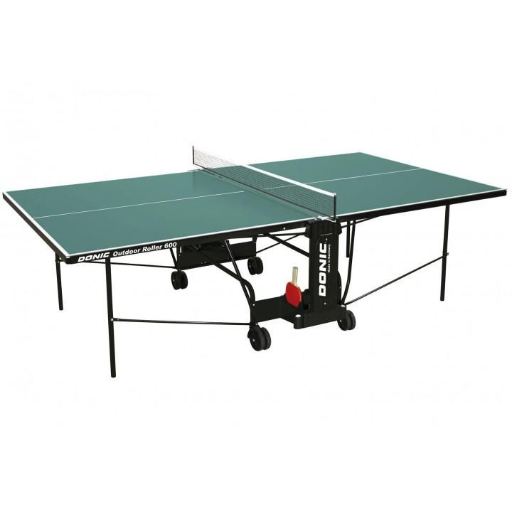 Всепогодный теннисный стол Donic Outdoor Roller 600 зелёный