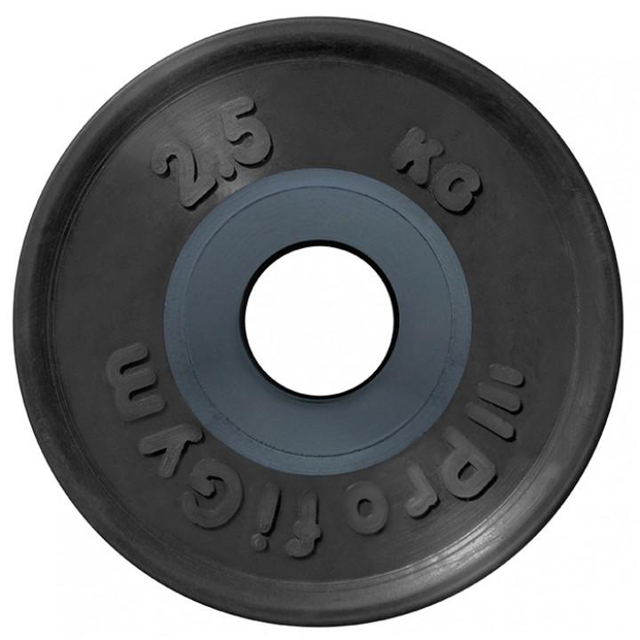 Диск для штанги олимпийский Profigym 2,5 кг, черный