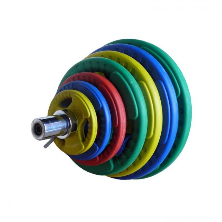 """Диск обрезиненный JAGUAR-SPORT цветной """"3 HANDLE"""" D-51, 1,25 кг"""