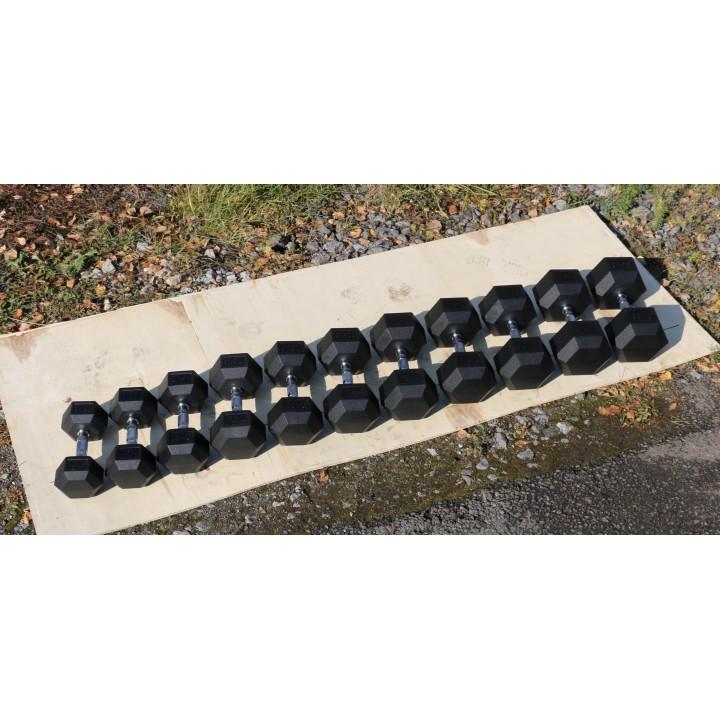 Гантель гексагональная обрезиненная JAGUAR-SPORT, 1 кг