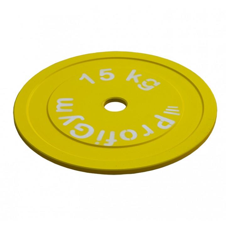 Диск стальной «Powerlifting» с полимерным покрытием Profigym 15 кг